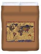 World Map Vintage Duvet Cover