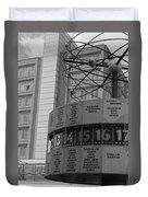 World Time Clock Berlin Duvet Cover