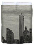 World Trade Center Construction Duvet Cover