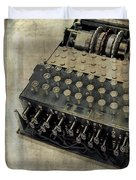 World War II Enigma Secret Code Machine Duvet Cover