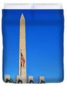 World War II Memorial And Washington Monument Duvet Cover