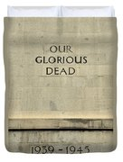 World War Two Our Glorious Dead Cenotaph Duvet Cover