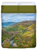 Worlds End State Park Lookout Duvet Cover