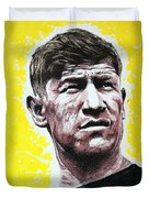 Worlds Greatest Athlete Duvet Cover by Chris Mackie