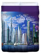 Worlds Tallest Buildings Duvet Cover by Garry Walton