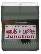Worms And Coffee Junction Duvet Cover