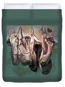 Worn Ballet Slippers Duvet Cover