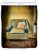 Worn Chair By Doorway Duvet Cover