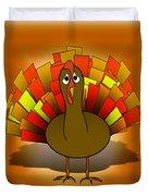 Worried Turkey Illustration Duvet Cover