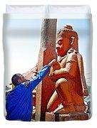 Worshipper At Festival Of Ram Nawami In Kathmandu-nepal    Duvet Cover