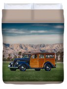 Wow Woodie Duvet Cover