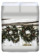 Wreaths For Sale Colonial Williamsburg Duvet Cover