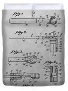 Wrench Patent Drawing Duvet Cover