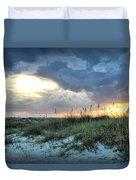 Wrightsville Beach South End Sunset Duvet Cover