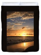 Wrightsville Beach Sunset Duvet Cover