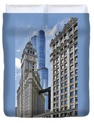 Wrigley And Trump In Harmony Duvet Cover