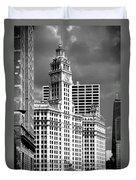 Wrigley Building Chicago Illinois Duvet Cover