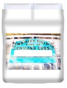 Wrigley Field Sign - X-ray Duvet Cover