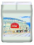 Wrigley Field Sketch Duvet Cover