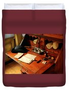 Writer - The Desk Of A Gentleman  Duvet Cover by Mike Savad