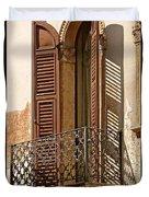 Wrong Balcony Romeo Duvet Cover
