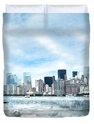 Wrong Expectations New York City Usa Duvet Cover by Sabine Jacobs