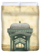Wrong Train Right Station Duvet Cover by Edward Fielding