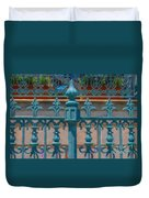 Wrought Iron Fence Duvet Cover