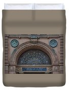 Wrought Iron Grille - The Omaha Building Duvet Cover
