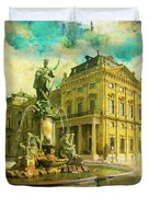 Wurzburg Residence With The Court Gardens And Residence Square Duvet Cover by Catf