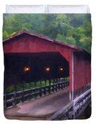 Wv Covered Bridge Duvet Cover