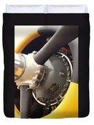 Ww II Airplane Engine Duvet Cover