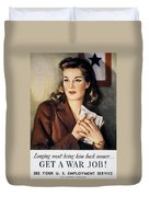 Ww II: Employment Service Duvet Cover