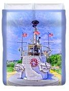 Ww II Submarine Memorial Duvet Cover