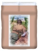 Ww II Us Army Soldier Photo Art Duvet Cover