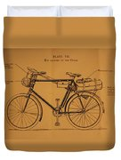 Ww1 Military Bicycle Duvet Cover
