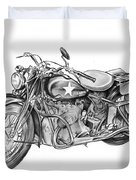Ww2 Military Motorcycle Duvet Cover