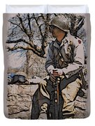 Wwii Soldier Two Duvet Cover