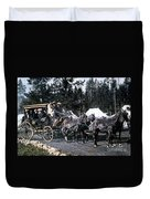 Wylie Coach Yellowstone National Park Duvet Cover