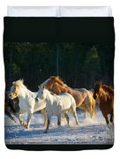 Wyoming Horses Duvet Cover