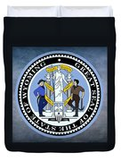 Wyoming State Seal Duvet Cover