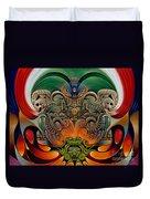 Xiuhcoatl The Fire Serpent Duvet Cover by Ricardo Chavez-Mendez