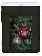 Xmas Red Ornament Photo Art 03 Duvet Cover