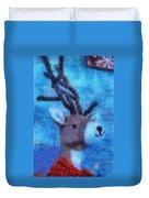 Xmas Reindeer 01 Photo Art Duvet Cover