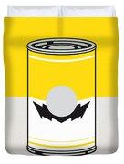 Y Mario Warhols Minimal Can Poster-wario Duvet Cover