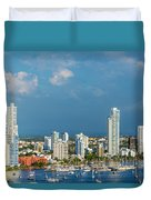 Yachts And Modern Cartagena Duvet Cover