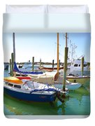 Yachts In A Port 4 Duvet Cover