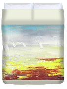 Yachts On The Riviera Duvet Cover