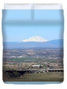 Yakima Valley Outlook With Mount Adams Duvet Cover