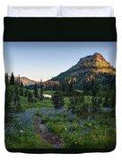 Yakima Peak At Sunrise Duvet Cover